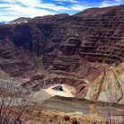Picture - View over the Lavender Open Pit Mine in Bisbee.