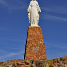 Picture - Statue of Jesus in the Holy City of the Wichitas, Okolahoma.