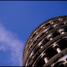 Picture - Detail of the leaning tower of Pisa.