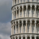 Picture - Close up of the Leaning Tower of Pisa.