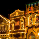 Picture - Christmas lights in downtown Leavenworth.