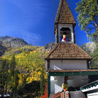 Picture - A German style steeple in Leavenworth.