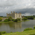 Picture - The moat around Leeds Castle.