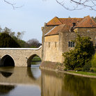 Picture - Bridge over water leading to Leeds Castle, Maidstone.