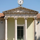 Picture - Clock on a school in Lefkara.