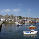 Picture - Boats in Lerwick Harbor.