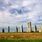 Picture - Five thousand year old standing stones formation at Callinish on the Island of Lewis.