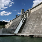 Picture - Dam at Lake Koocanusa near Libby, Montana.