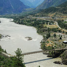 Picture - View over the town of Lillooet and the entire river valley.
