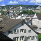 Picture - Panoramic view from Lindenhof in Zurich.