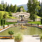 Picture - Garden by castle in Linderhof.
