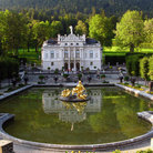 Picture - View over the grounds of Linderhof Palace.
