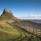 Picture - The castle on the Holy Island of Lindisfarne.