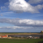Picture - View across the landscape of Lindisfarne.