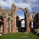 Picture - Ruins of the Lindisfarne Priory.