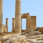 Picture - Ruins of the Temple of Athena, Lindos.