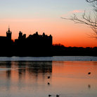 Picture - Sunset over the Palace at Linlithgow.
