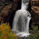 Picture - Lower Linville Falls, seen in the autumn.