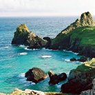 Picture - Blue waters and cliffs on The Lizard Peninsula.