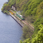 Picture - Looking down on the Llanberis Lake Railway.