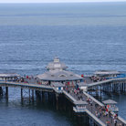 Picture - Aerial view of the pier at Llandudno.