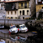 Picture - Boats and buildings in Port Llanes.