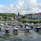 Picture - Sailboats anchored in Aberaeron.
