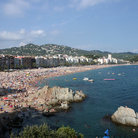 Picture - Beach and skyline of Lloret de Mar.