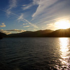 Picture - Sun setting on Loch Lomond.