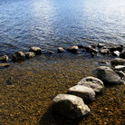 Picture - Rocks on the shores of Loch Ness.
