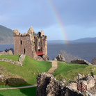 Picture - Rainbow over Urquhart Castle.
