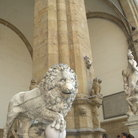 Picture - Lion sculpture in Loggia dei Lanzi in Florence.