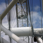 Picture - View of the London Eye from a pod.
