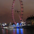 Picture - The London Eye at night.