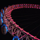 Picture - Detail of the British Airways London Eye at night.