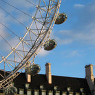 Picture - Old architecture and the London Eye in London.