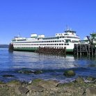 Picture - Washington Super Ferry at Lopez Island.