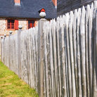 Picture - Fence in Louisbourg.