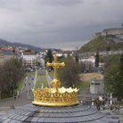 Picture - View of Lourdes from the Basilica.