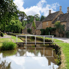 Picture - Street beside the water in Lower Slaughter.