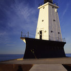 Picture - Ludington Lighthouse on Lake Michigan.