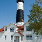 Picture - Lighthouse keeper's house at Big Sable light in Ludington.