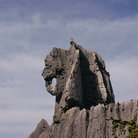 Picture - Stone elephant at the Lunan Stone Forest.