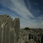 Picture - Large limestone formations in the stone forest near Kunming.