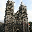 Picture - Facade of the Lund Cathedral.