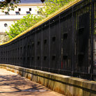 Picture - Fence through the Luxembourg Gardens in Paris.