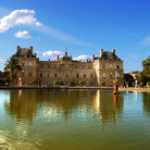 Picture - Pool at the Jardin du Luxembourg in Paris.