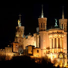 Picture - Notre-Dame de Fourviere in Lyon at night.