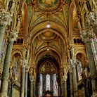 Picture - Ornate interior of the Notre-Dame de Fourviere in Lyon.