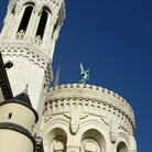 Picture - Detail of the Basilique de Fourviere in Lyon.